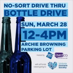 Bottle Drive Sunday hosted but the Ocean 98.5 and Used Victoria